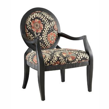 Crestview Lauren Pattern Accent Chair