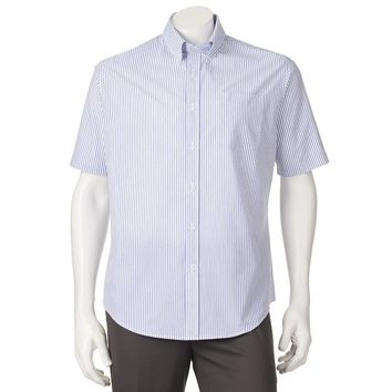 Croft & Barrow Striped Easy-Care Casual Button-Down Shirt - Big & Tall, Size: