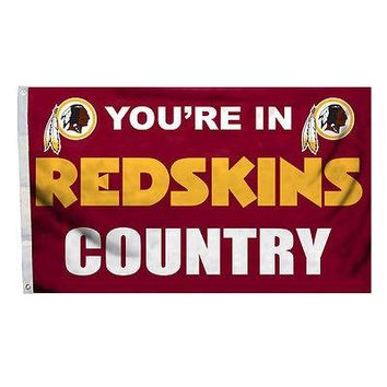 Washington Redskins COUNTRY 3x5 Outdoor Flag Banner NFL Football