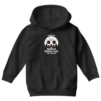 crystal lake camp counselor Youth Hoodie