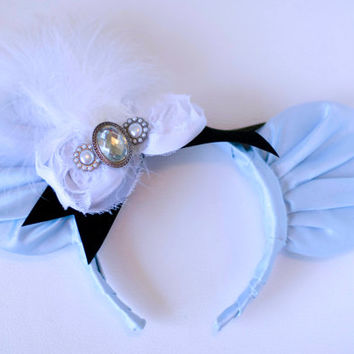 Cinderella Inspired Mickey Mouse Ear Headband