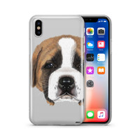 St.Bernard Puppy - Clear Case Cover