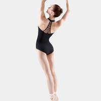 Free Shipping - Halter Rouleaux Knot Beaded Leotard by MIRELLA