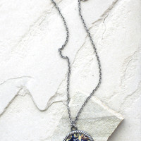 Van Gogh Tardis Necklace