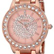 """Fossil Women's ES3657 """"Jesse"""" Crystal-Accented Rose Gold-Tone Stainless Steel Watch"""