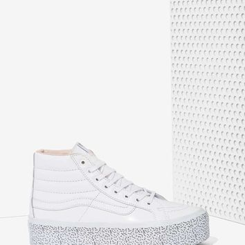 Nasty Gal x Vans Step Up Sk8-Hi Leather Platform Sneaker
