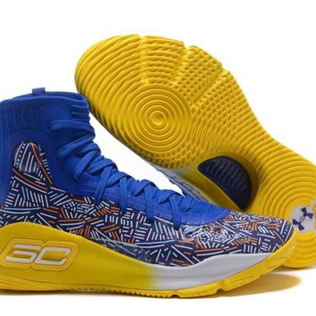 Under Armour Curry 4 Team Royal/yield Yellow/white Mens 1295995-403 - Beauty Ticks