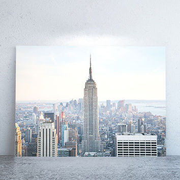"""40"""" x 30"""" - Vintage Photography, Large Print of New York City"""