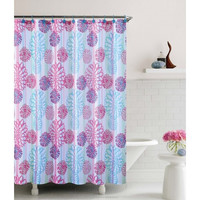 "Cameron Embossed Microfiber Shower Curtain- 72""x 72"""