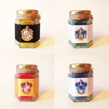 Harry Potter - Hogwarts House Wood Wick Candles - Set of Four -EinsteinCandleCo