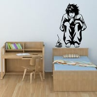 L from Death Note decal post for wall decal sticker vinyl decal for anime hot car decal drifting decal