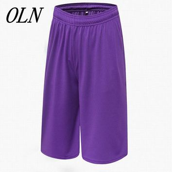 OLN Basketball Shorts Quick Dry Breathable Loose Training Basket-ball Jersey Sport Running Shorts For Men