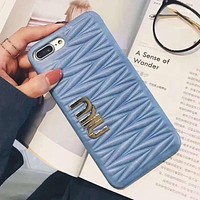 Miu Miu Fashion iPhone Phone Cover Case For iphone 6 6s 6plus 6s-plus 7 7plus 8 8plus X