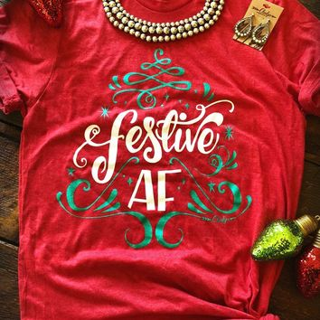 Cheeky's Boutique - Festive AF Tee