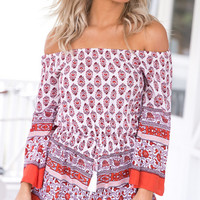 Holiday Off Shoulder Print Romper 11765
