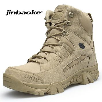 Men Special Forces Tactical Combat Army Military Boots Brand Outdoor Hiking Shoes Non-slip Mountain Trekking Sport Boots