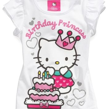 Hello Kitty Kids Shirts Little Girls Birthday Tees