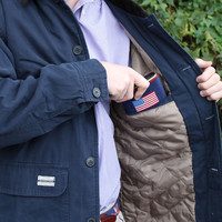 Station Canvas Jacket in Colonial Navy by Southern Marsh