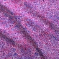 Neon pink and purple swirls doodles fabric - savousepate - Spoonflower