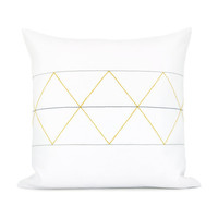 Geometric decorative pillow case  Mustard by ClassicByNature