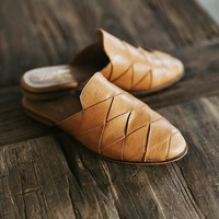 Survival Leather Slide - cladandcloth