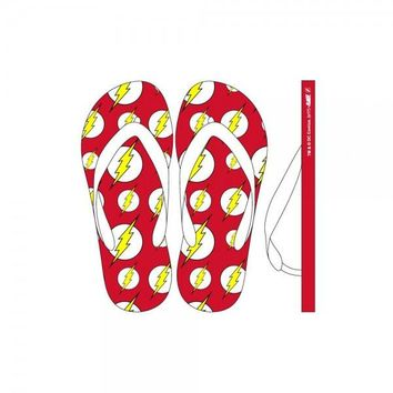DC Comics Flash Unisex Flip Flops Bioworld Officially Licensed