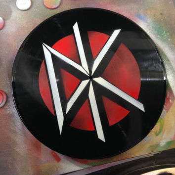 Dead Kennedys. Spray painted vinyl record