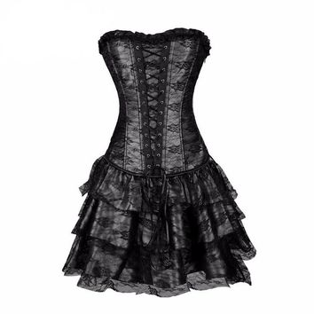 Steampunk Corsets and Bustiers Burlesque Gothic Lace Steampunk Corset Dress