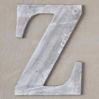 Wood Block Letter - Charcoal Grey 24in - Z The Lucky Clover Trading Co.