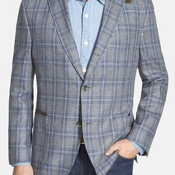Kroon 'The Edge' Plaid Silk Sport Coat,