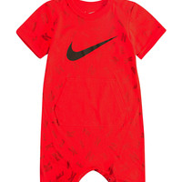 Nike Scattered Letter Print Romper - Baby 0-12 Mos. | Stage Stores