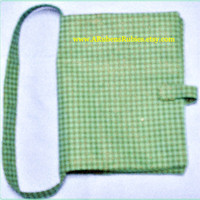 Book cover Green Black checked  7.50 X 6""
