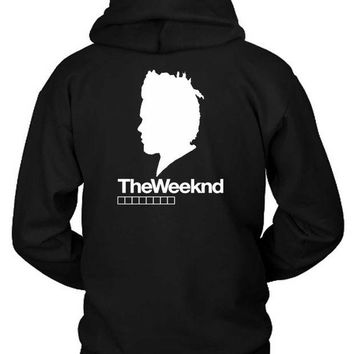 DCCKG72 The Weeknd Siluet Two Hoodie Two Sided
