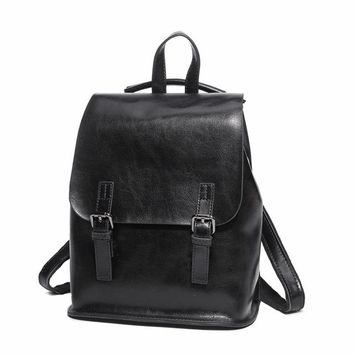 Genuine Leather  Vintage  Backpack