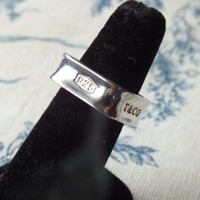 Tiffany & Co Classic 1837 Sterling Silver Square Ring
