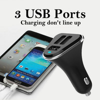 Car Accessories 3 USB 5.2A Portable Ports Mobile Phone Fast Car Charger