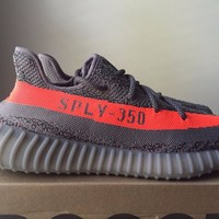 Come With Box Adidas Yeezy Boost 350 V2 Beluga Size 9.5 Grey Solar Red BB1826 100% Authentic