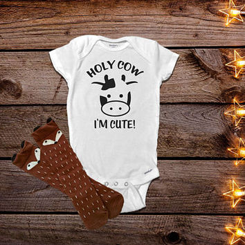 Funny Baby Onesuits®, Cow Baby Onesuit®, Cow Baby Clothes, Country Onesuit®, Country Baby Clothes,  Farm Onesuits®, Baby Shower Gift, Farm Baby