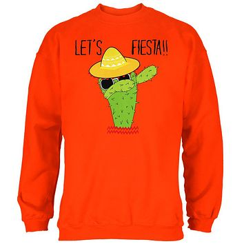 Cinco De Mayo Dabbing Cactus Let's Fiesta Party Mens Sweatshirt