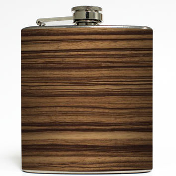 Zebrawood - Faux Wood Flask