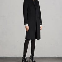 ALLSAINTS US: Womens Odile Coat (Black)