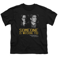 Person of Interest Someone Black Youth T-Shirt