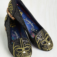 Irregular Choice Thank the Maker Flat in Darth Vader | Mod Retro Vintage Flats | ModCloth.com