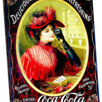 Vintage Coca Cola (22) on Canvas 24 x 36 Gallery wrapped ready for framing