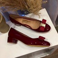 Ferragamo  Women Casual Shoes Boots  fashionable casual leather