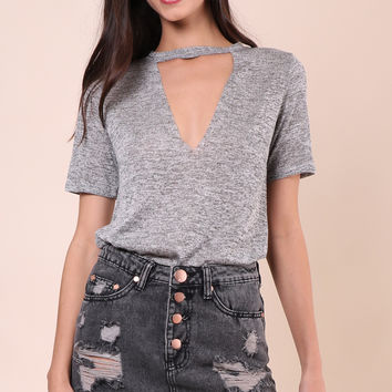 Jac Parker Choker Cut Out Tee
