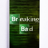 Breaking Bad On Wood for Iphone 5 / 5s Hard Cover Plastic
