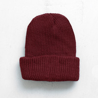 Basic Brushed Beanie in Burgundy