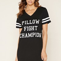 Pillow Fight Graphic Nightdress