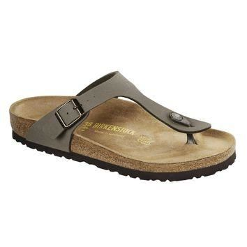Birkenstock Classic Gizeh Birko-flor Narrow Fit Stone - Beauty Ticks